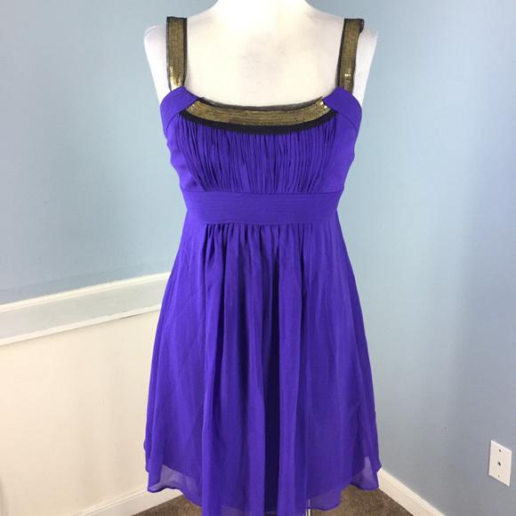 Plus size Deep V-Neck Wrap Bodice Dress Purple2